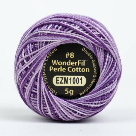 Eleganza 8wt 5-Gram Variegated Perle Cotton Ball 42yd Wisteria