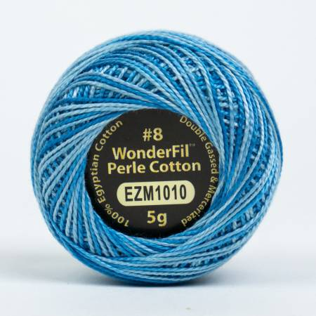 Eleganza 8wt 5-Gram Variegated Perle Cotton Ball 42yd Oceanic