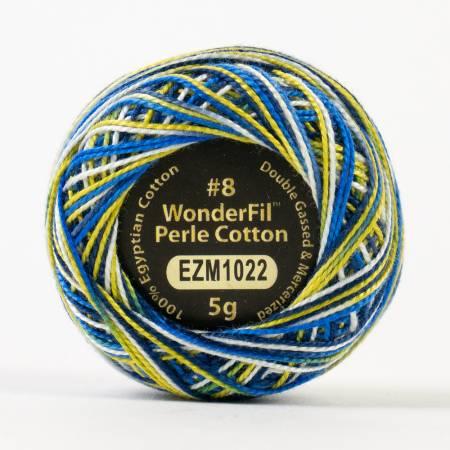 Eleganza 8wt 5-Gram Variegated Perle Cotton Ball 42yd City Lights