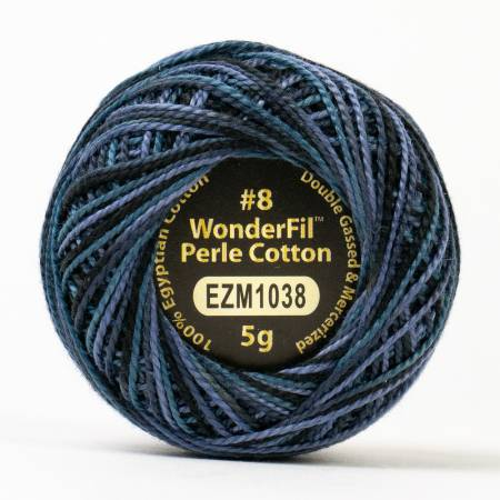 Eleganza 8wt 5-Gram Variegated Perle Cotton Ball 42yd Nocturnal