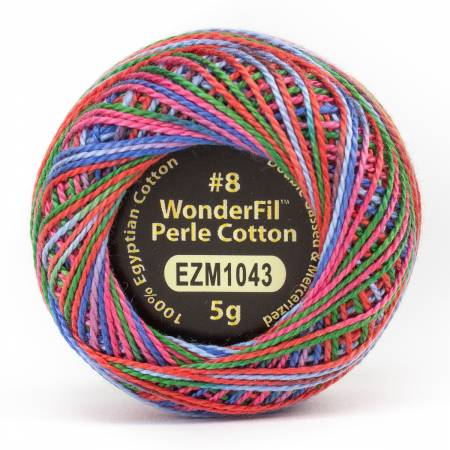 Eleganza 8wt 5-Gram Variegated Perle Cotton Ball 42yd Sugar Rush