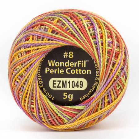 Eleganza 8wt 5-Gram Variegated Perle Cotton Ball 42yd Festival