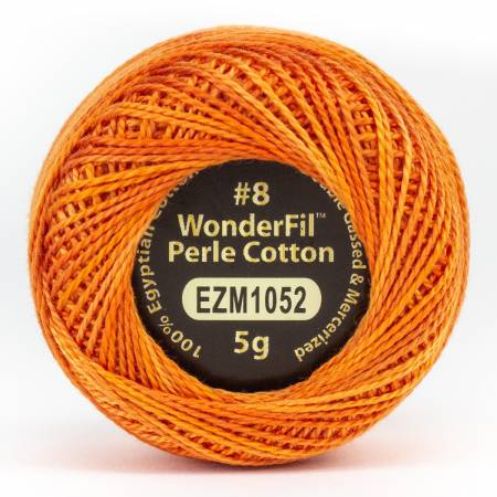 Eleganza 8wt 5-Gram Variegated Perle Cotton Ball 42yd Traffic Cone