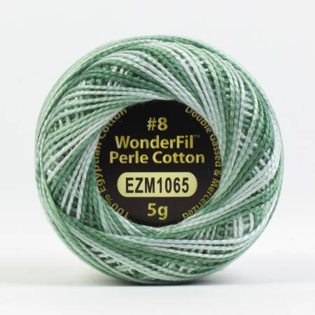 Eleganza 8wt 5-Gram Variegated Perle Cotton Ball 42yd Blue Spruce