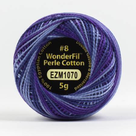 Eleganza 8wt 5-Gram Variegated Perle Cotton Ball 42yd Purple Haze