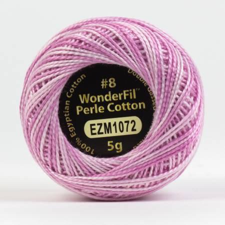 Eleganza 8wt 5-Gram Variegated Perle Cotton Ball 42yd Dawn Pink