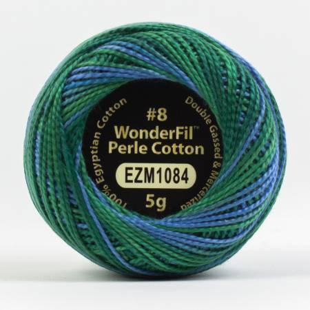 Eleganza 8wt 5-Gram Variegated Perle Cotton Ball 42yd Ocean