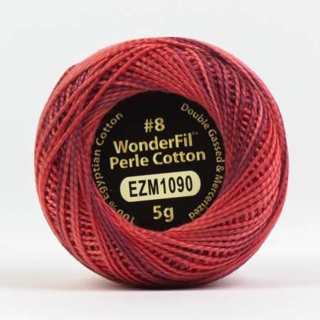 Eleganza 8wt Variegated Perle Cotton 1090 Cranberry