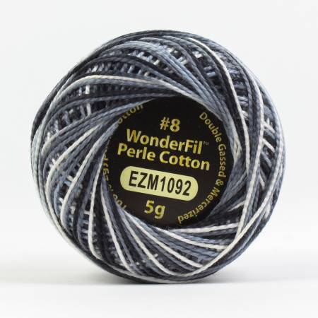 Eleganza 8wt 5-Gram Variegated Perle Cotton Ball 42yd Overcast