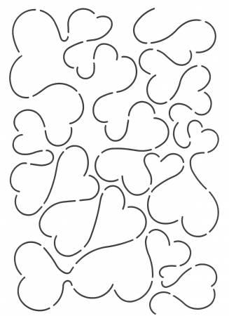 Quilt Stencil Heart Background