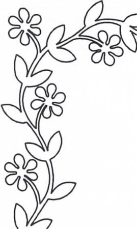 Floral Vine 8x13  EL97