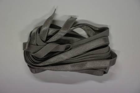 Grey Satin 1/4 inch Elastic 4yds