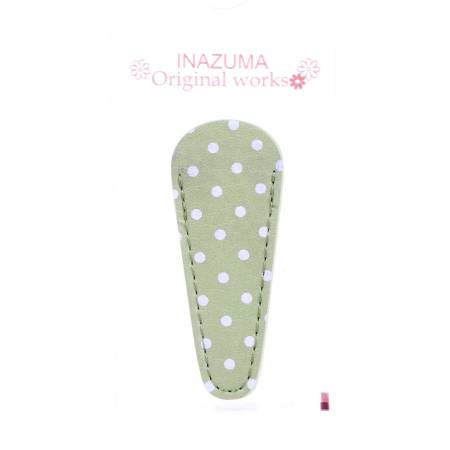 Polka Dot Embroidery Scissors Case Light Green