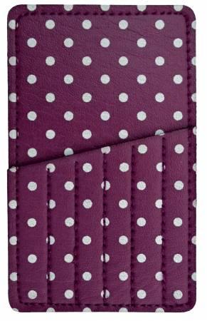 Needle Carry Card Purple Polks Dot