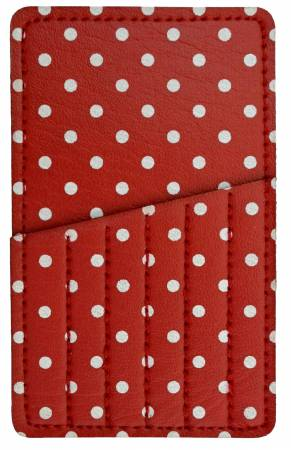 Needle Carry Card Red Polka Dot