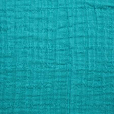 Teal Embrace Double Gauze Solid