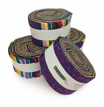 2-1/2in Strips Modern Batik 42pcs, 4 bundles per pack