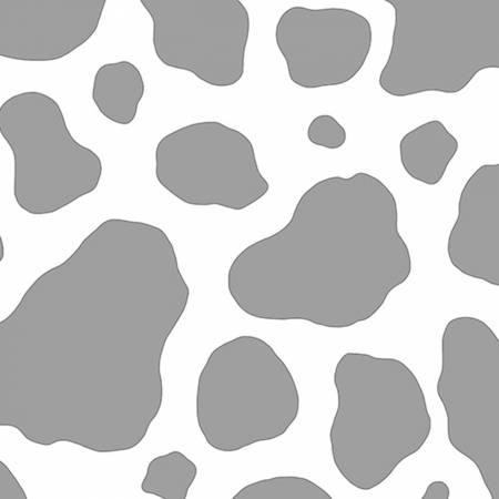 Steel Cow Spots Embrace Double Gauze Cotton