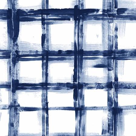 Shannon Embrace Double Gauze Print Cobalt Crosshatch