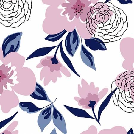 Multi Flower Shower Embrace Double Gauze Print