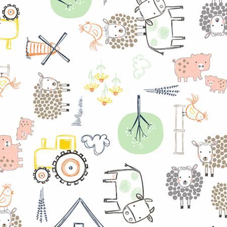 Embrace On The Farm Double Gauze Cotton Honeydew