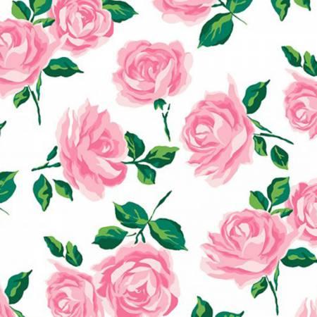 Pink Rose Garden Embrace Double Gauze