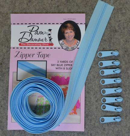 Sky Blue Zipper Tape