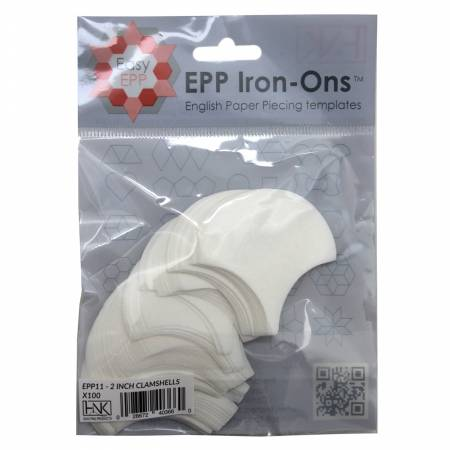 2in Clamshell EPP Iron-ons x 100