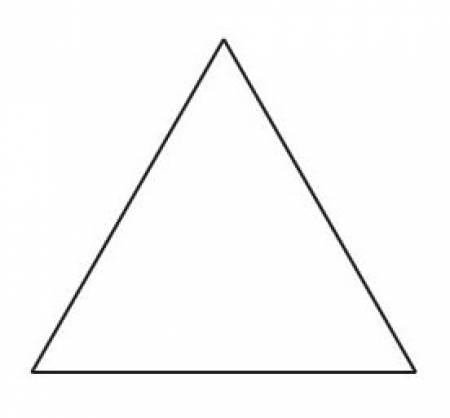 3in Equilateral Triangle Papers (100 pieces per bag)