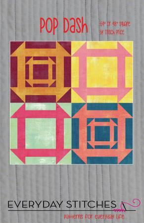 Pop Dash Pattern Quilt Pattern by Everyday Stitches