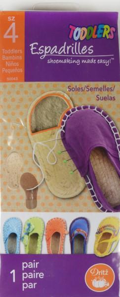 Espadrilles soles - kids size 5`