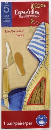 Espadrille Adult Wedge Soles Size 5