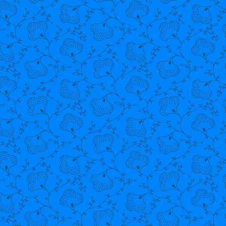 Blue Scroll Flowers ESS4678-B