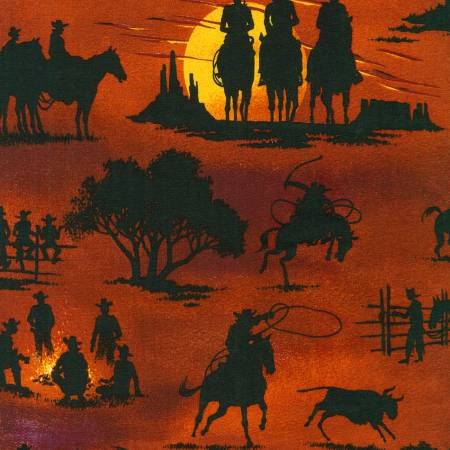 American Heritage 2 Sunset Cowboy (W10633)