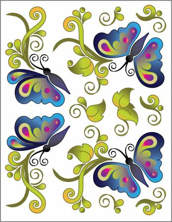 Tattoo Elementz Decal Butterfly Bliss (Printed On Clear)