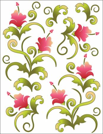Tattoo Elementz Decal Blossom Pink (Printed On Clear)