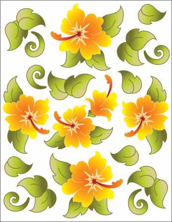 Tattoo Elementz Decal Hawaiian Holiday Tangerine (Printed On Clear)
