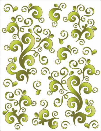 Tattoo Elementz Decal Oodles Of Doodles Green (Printed On Clear)