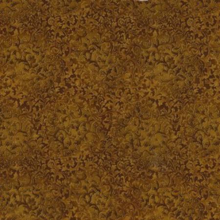 Gold Metallic Mini Scroll Texture