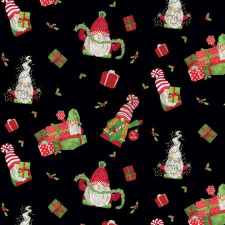 Gnome For Christmas Flannel Main Black