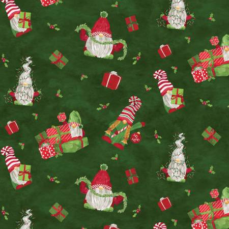Gnome For Christmas Flannel Main Green