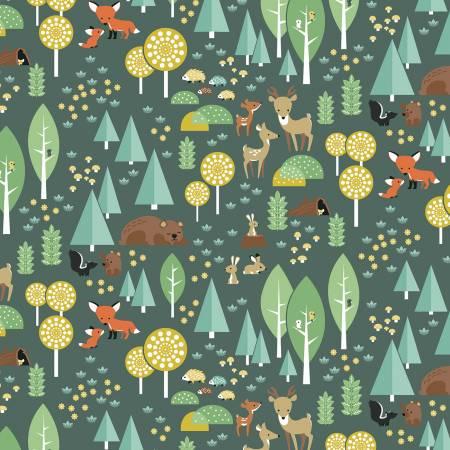 Woodland Flannel Main Green