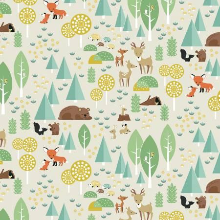 Woodland Flannel Main Parchment