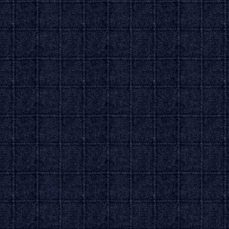 Woolen Flannel Plaid Navy