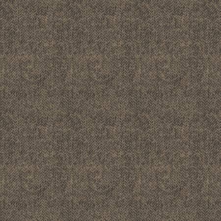 Woolen Flannel Herringbone Taupe