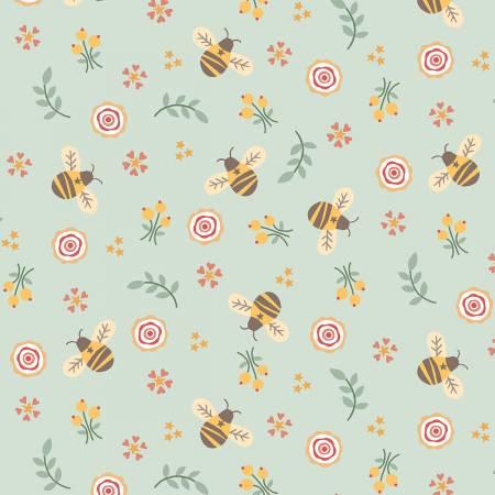 Aqua Bumbles Flannel Bees F1399 11