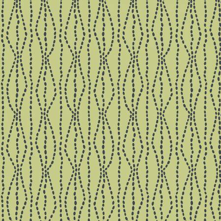 Bumble Garden F1401 66 Green Pebbles Flannel