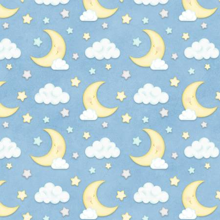 Blue Moon & Clouds on Flannel