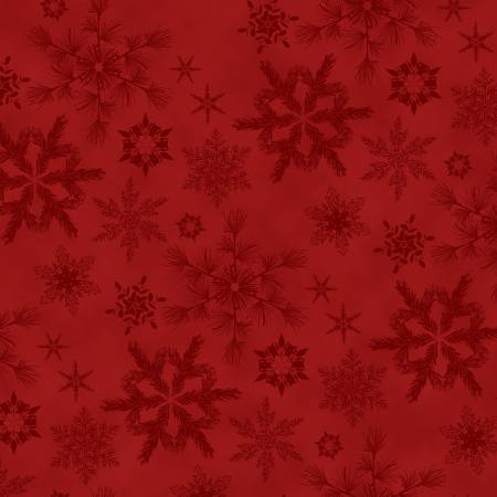 Red Snowflakes Flannel