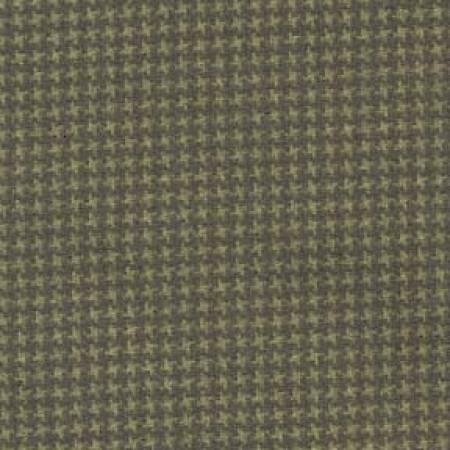 Deep Green Tiny Houndstooth Flannel